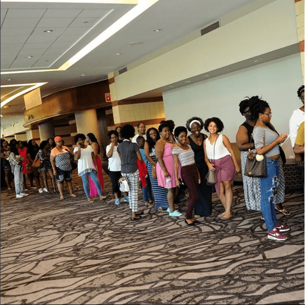2016 Charleston Natural Hair Expo Crowd lineup